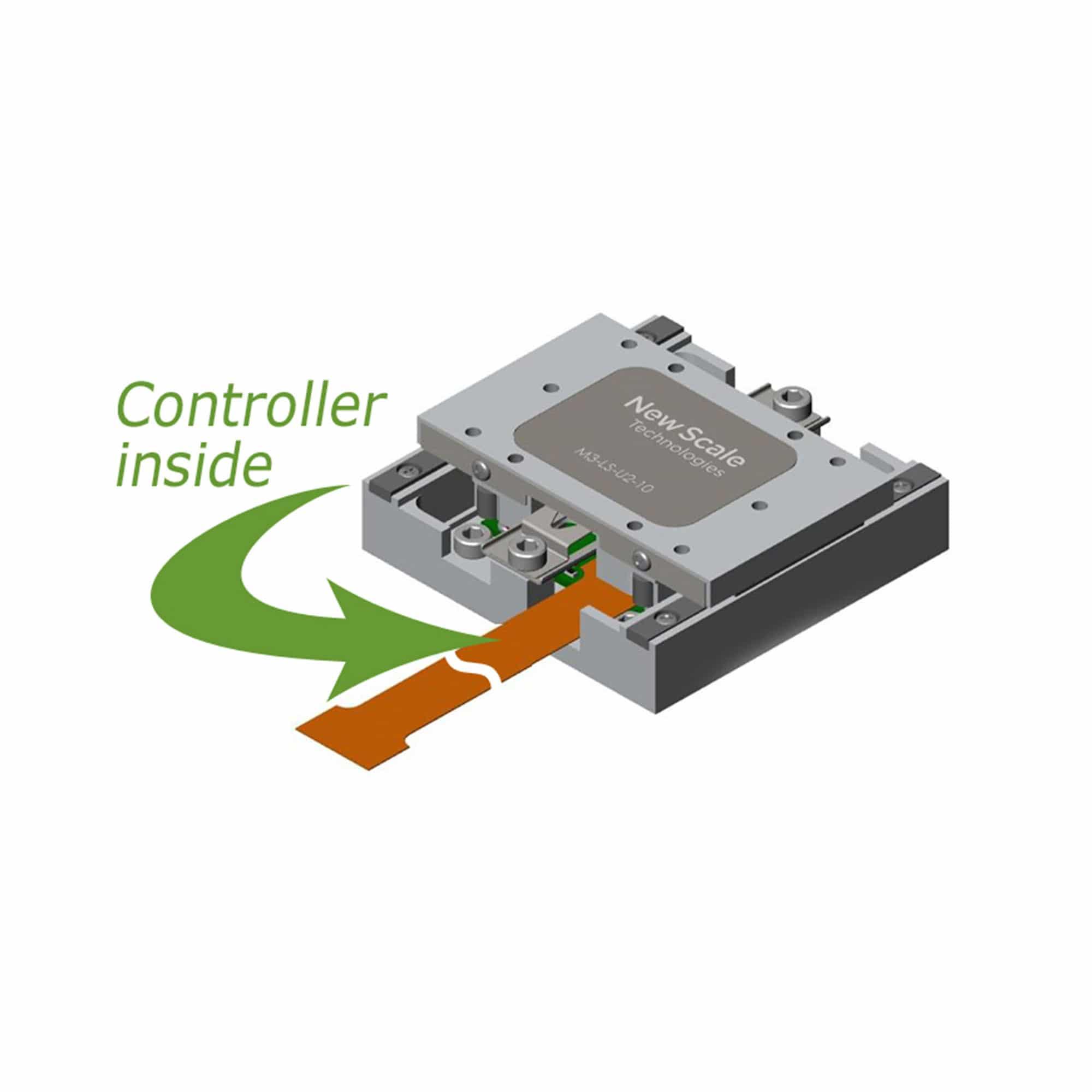 Produktzeichnung M3-LS-U2 lineares Piezotreibermodul