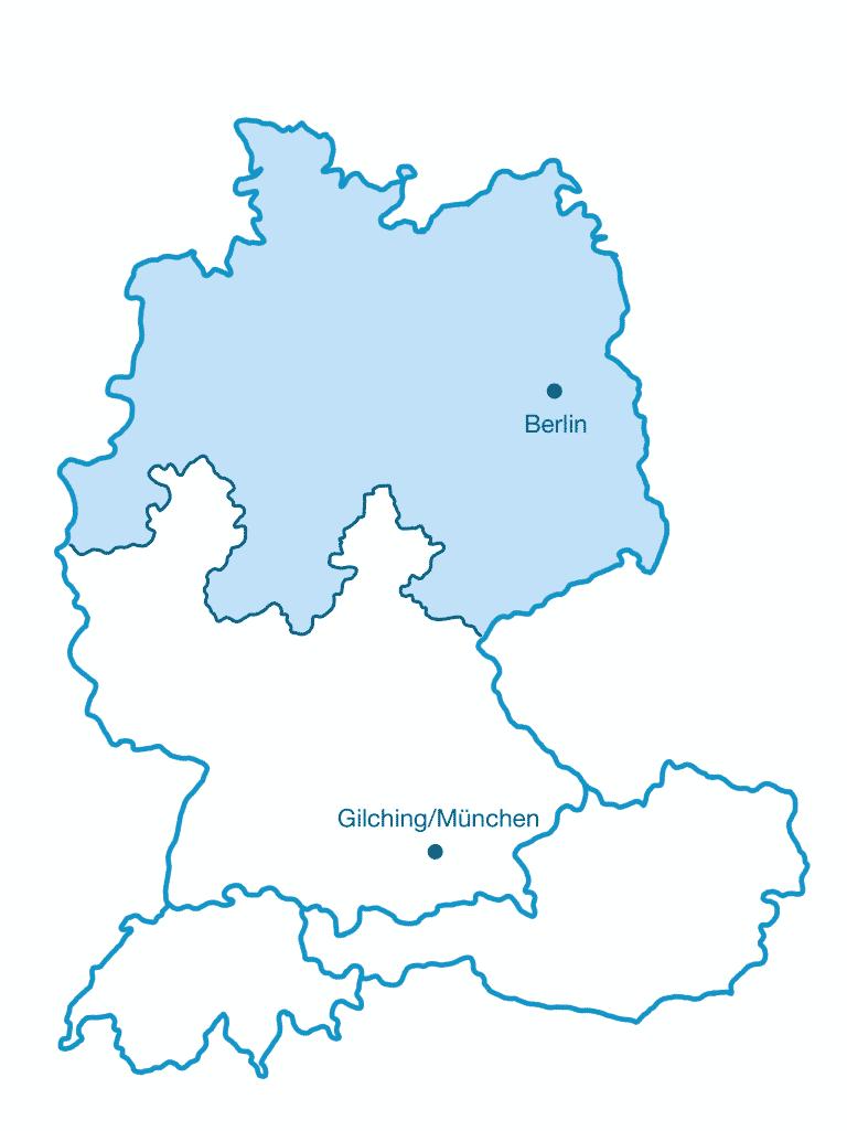 Karte SI-GmbH Vertriebsgebiet Nord