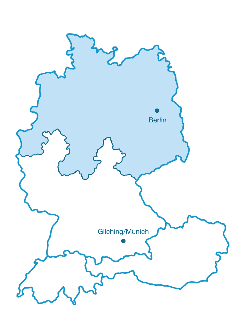 Map SI-GmbH northern sales region