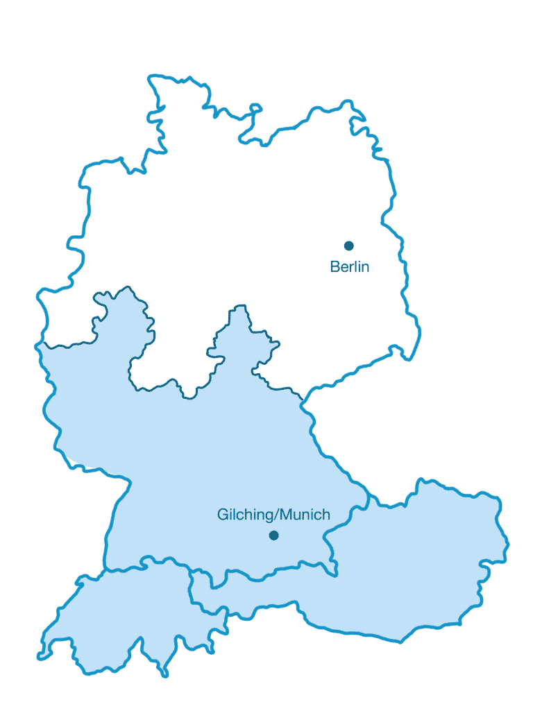 Map SI-GmbH southern sales region