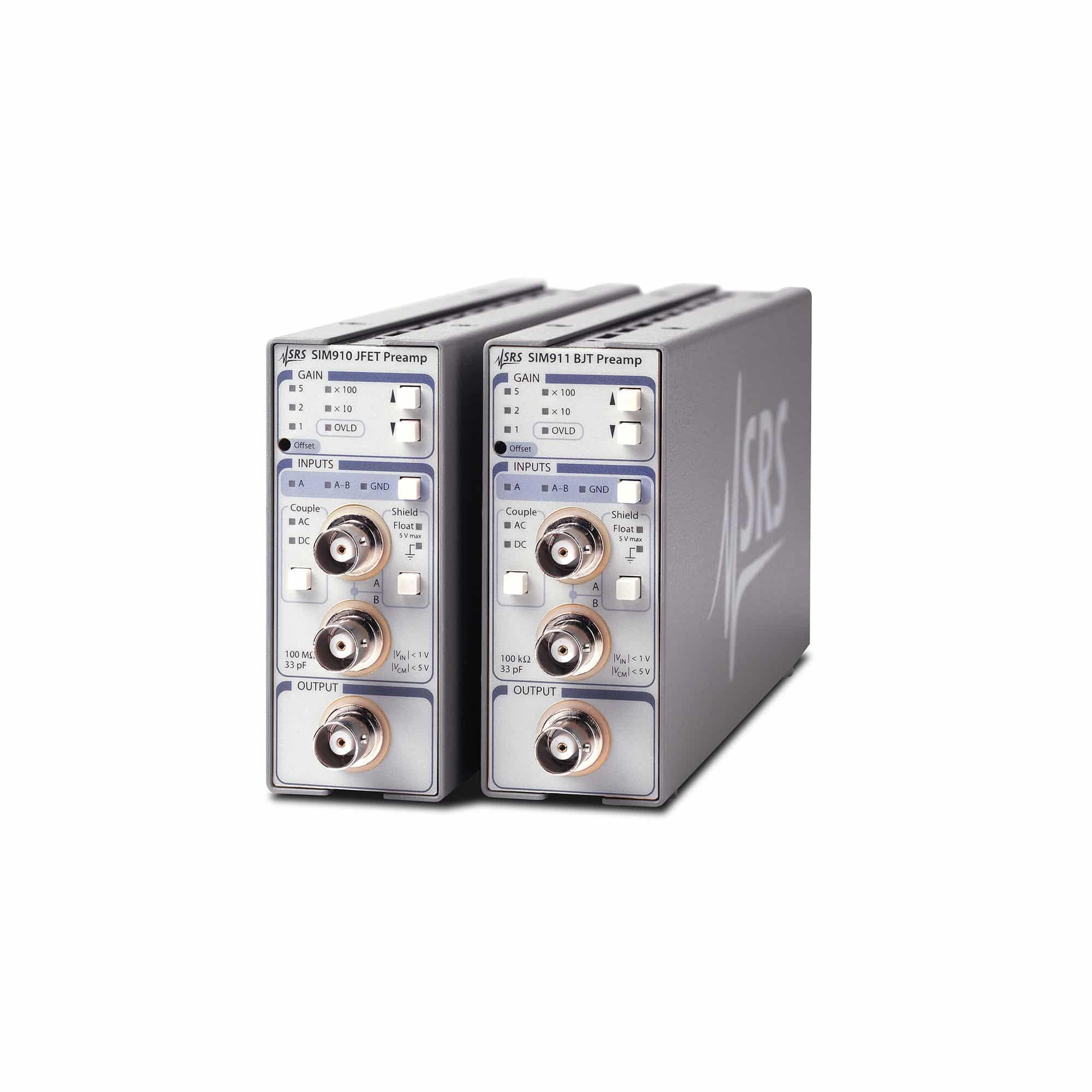Produktfoto SIM910 & SIM911 JFET- & BJT-Spannungsvorverstärkermodule