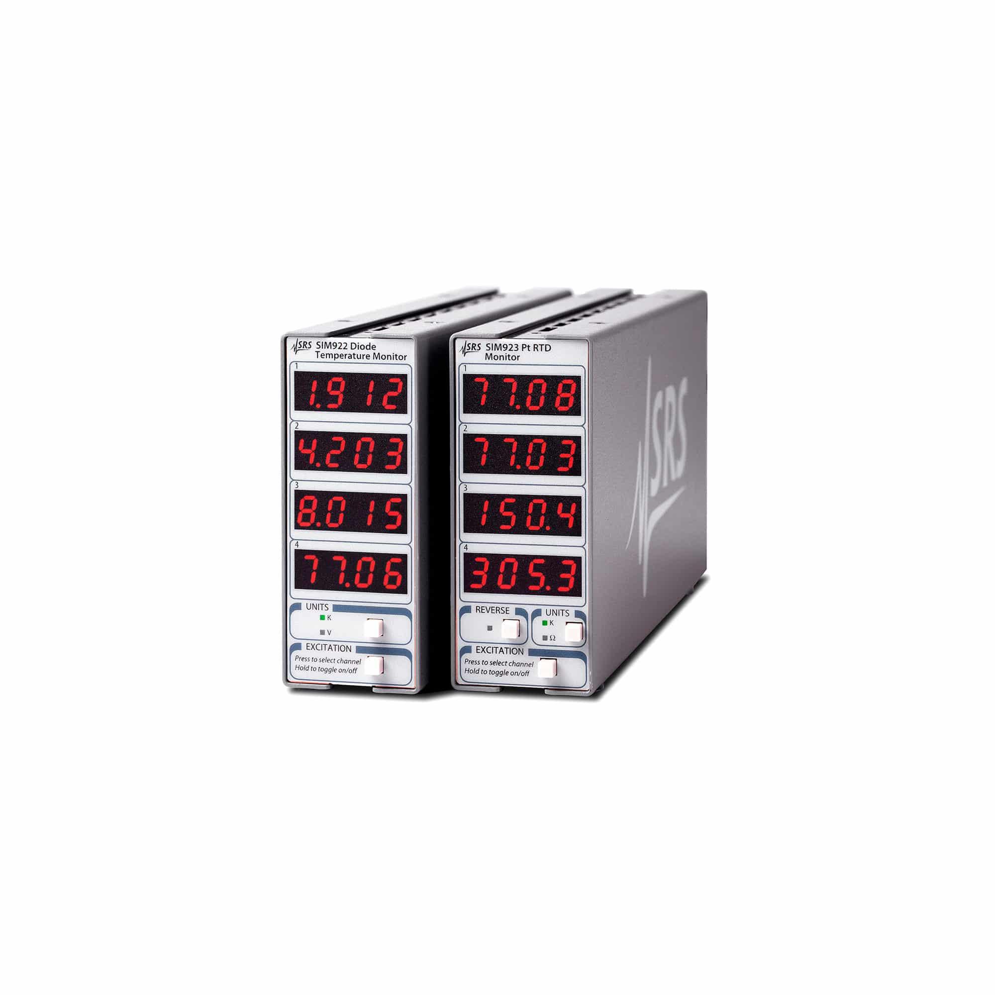 Produktfoto SIM922 & SIM923 Dioden- und Pt-RTD-Überwachungseinheiten