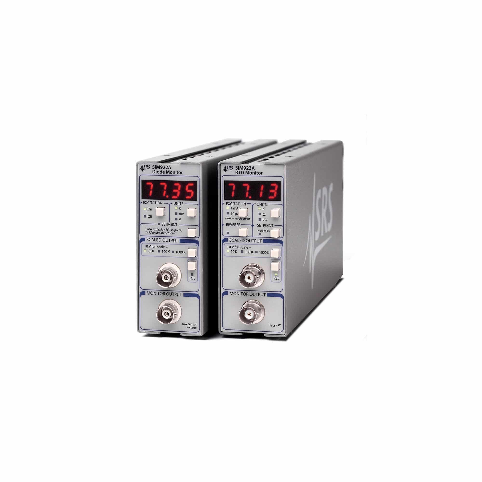 Produktfoto SIM922A & SIM923A Dioden- und Pt-RTD-Überwachungseinheiten