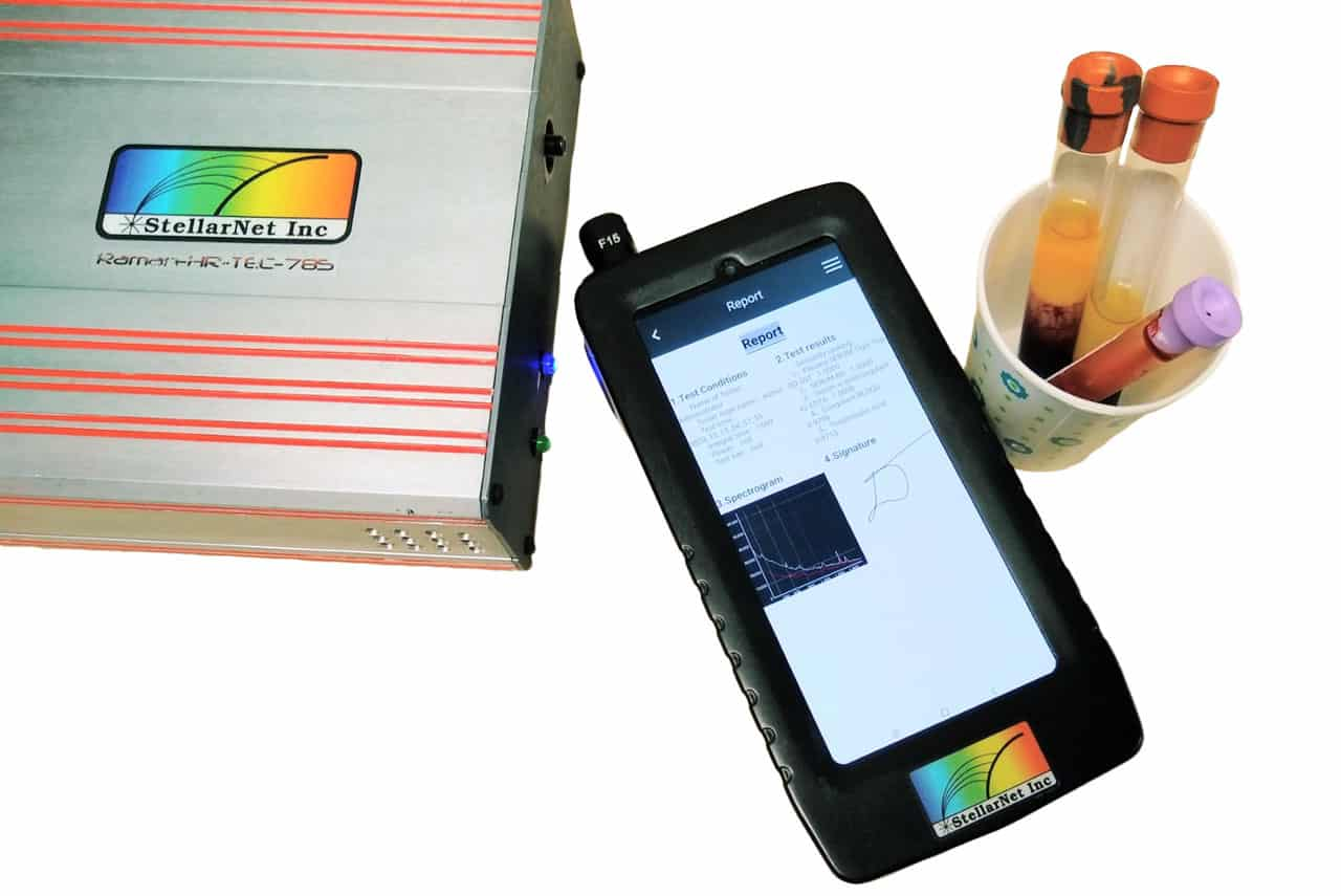 Produktfoto StellarRAM tragbarer Handheld-Ramananalysator Anwendung