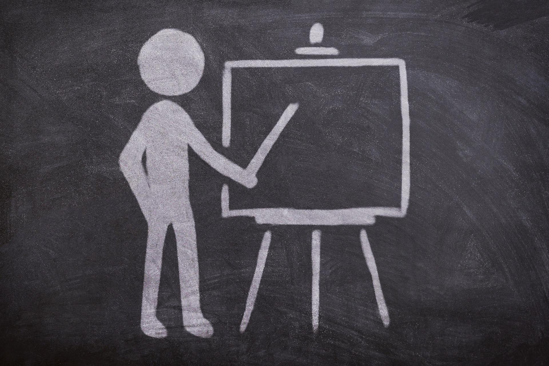 Grafik zur Veranschaulichung von Meetings oder Präsentationen vor Kunden