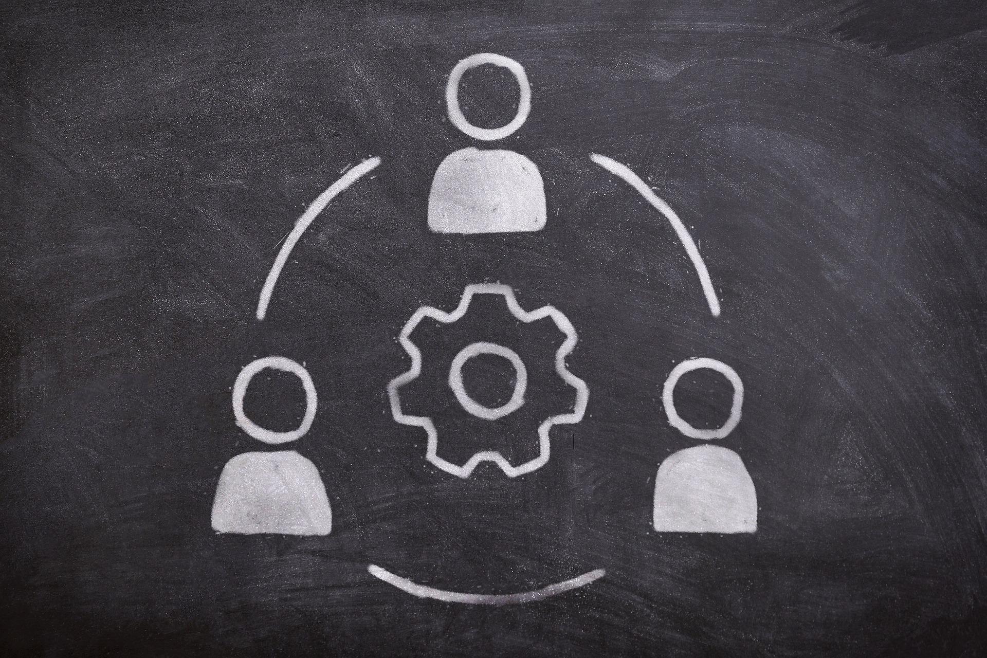 Grafik zur Veranschaulichung von Kooperationen