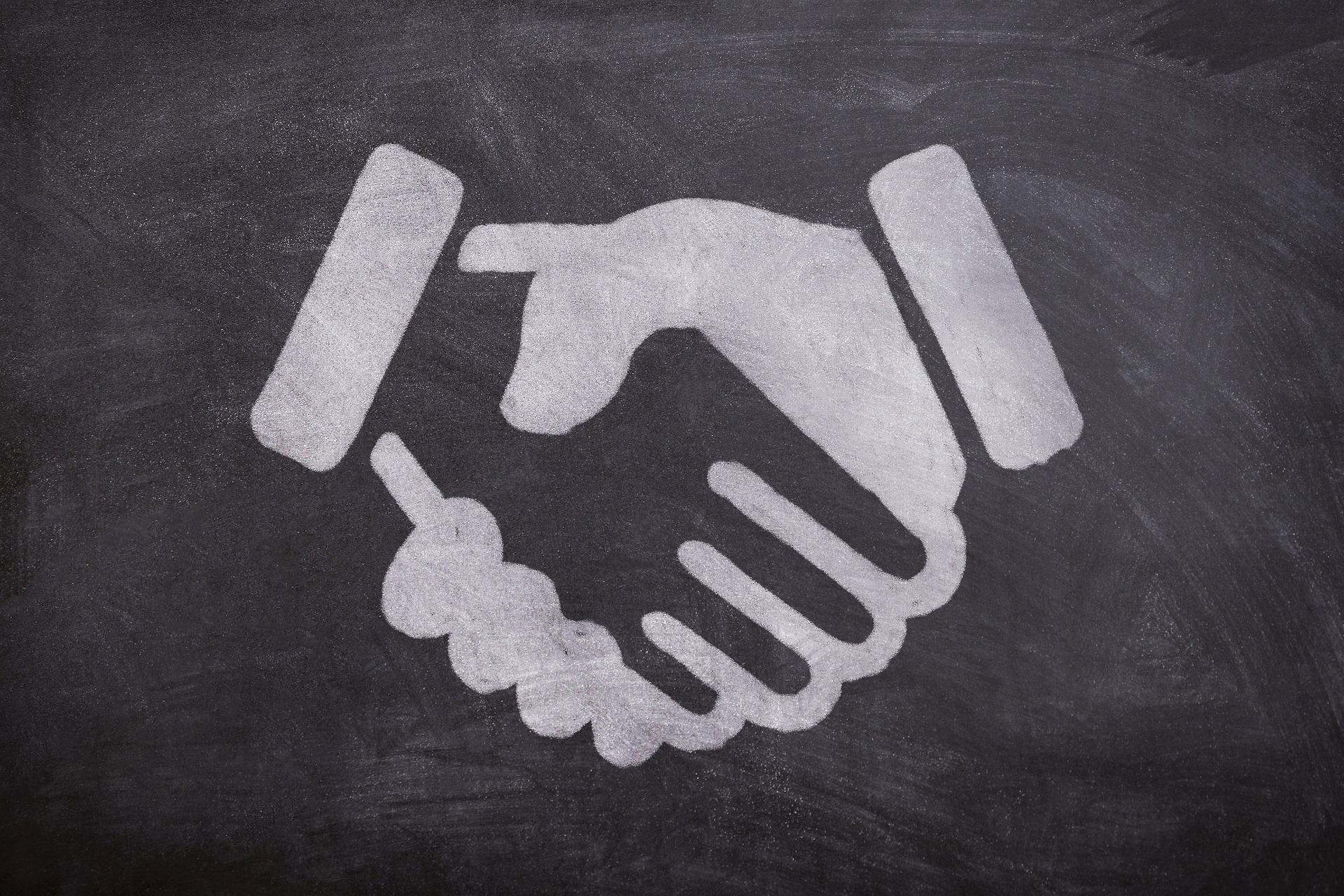 Grafik zur Veranschaulichung von Partnerschaft