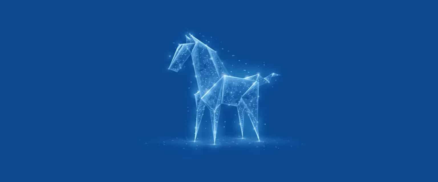 Blaues PYROISTECH-Pferd aus Licht